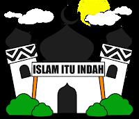Freebies Vector Masjid : Islam Itu Indah