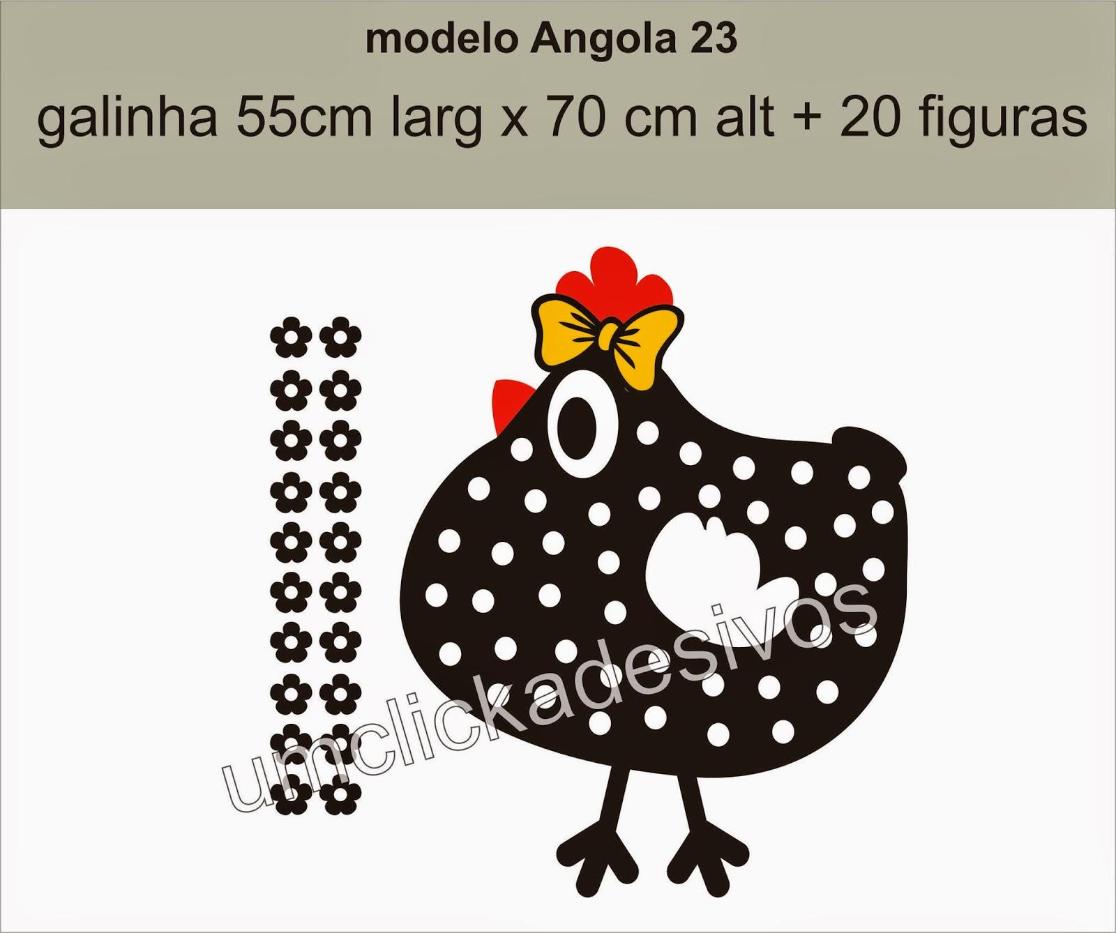 Um click adesivos adesivo para cozinha galinha angola