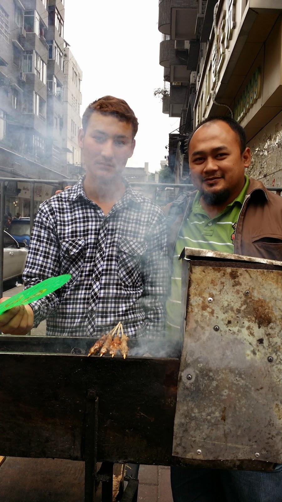 sate kambing, guangzhou, borong china
