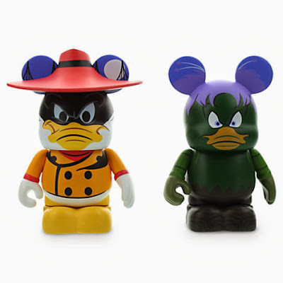 Darkwing Duck Disney Afternoon Vinylmation 2 Pack - Negaduck and Bushroot