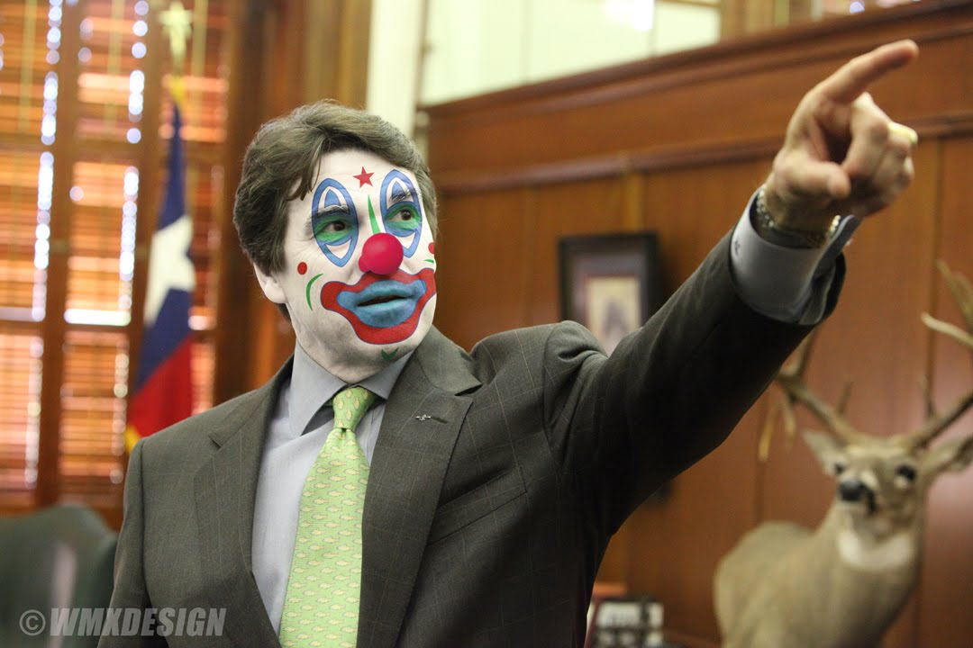 Rick Perry Clown 03 Secretly, undetectably gay