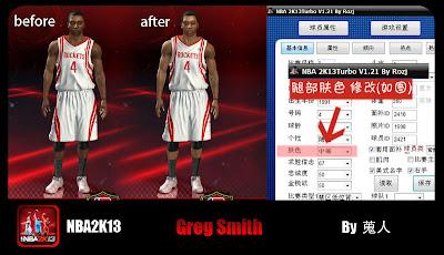 NBA 2K13 Greg Smith Face Update Mod