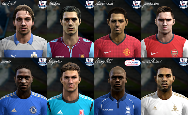 Premier League Facepack v4 - PES 2013