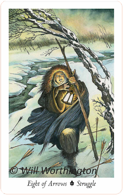 The Wildwood Tarot, Eight of Arrows