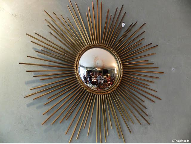 Miroir de sorcière brocante atelier restauration Cheriau Mortagne-au-Perche tagne