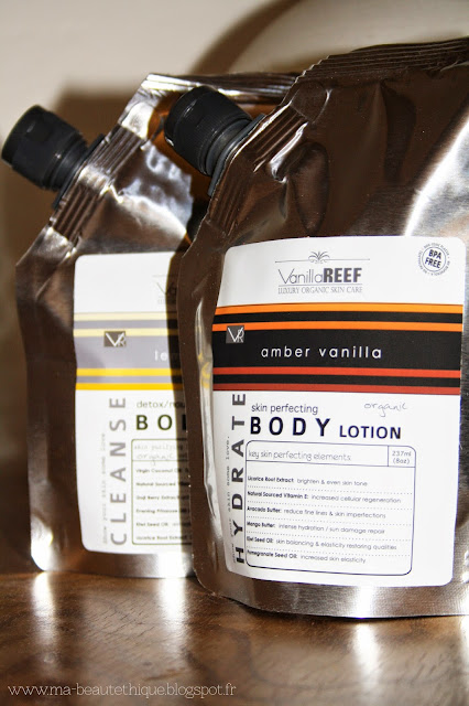 vanilla reef body wash and body lotion