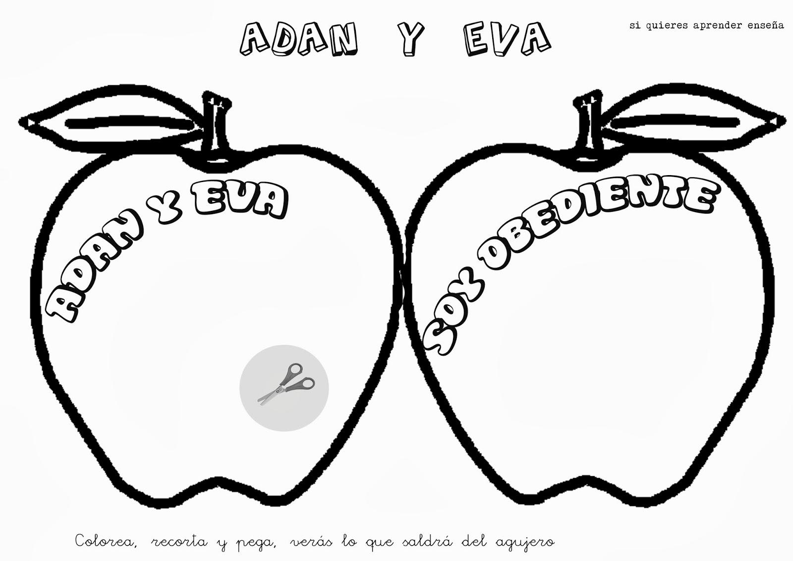 Si quieres aprender, ENSEÑA.: Adán y Eva