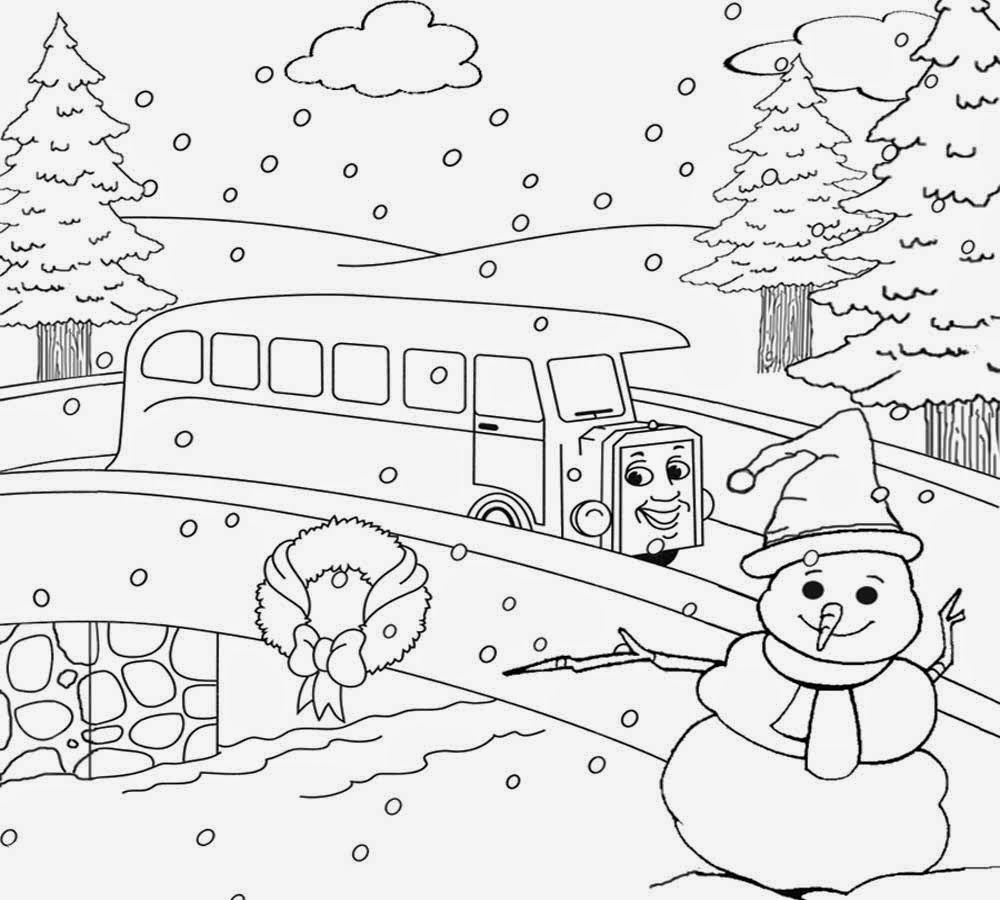 activity village winter coloring pages - photo#2