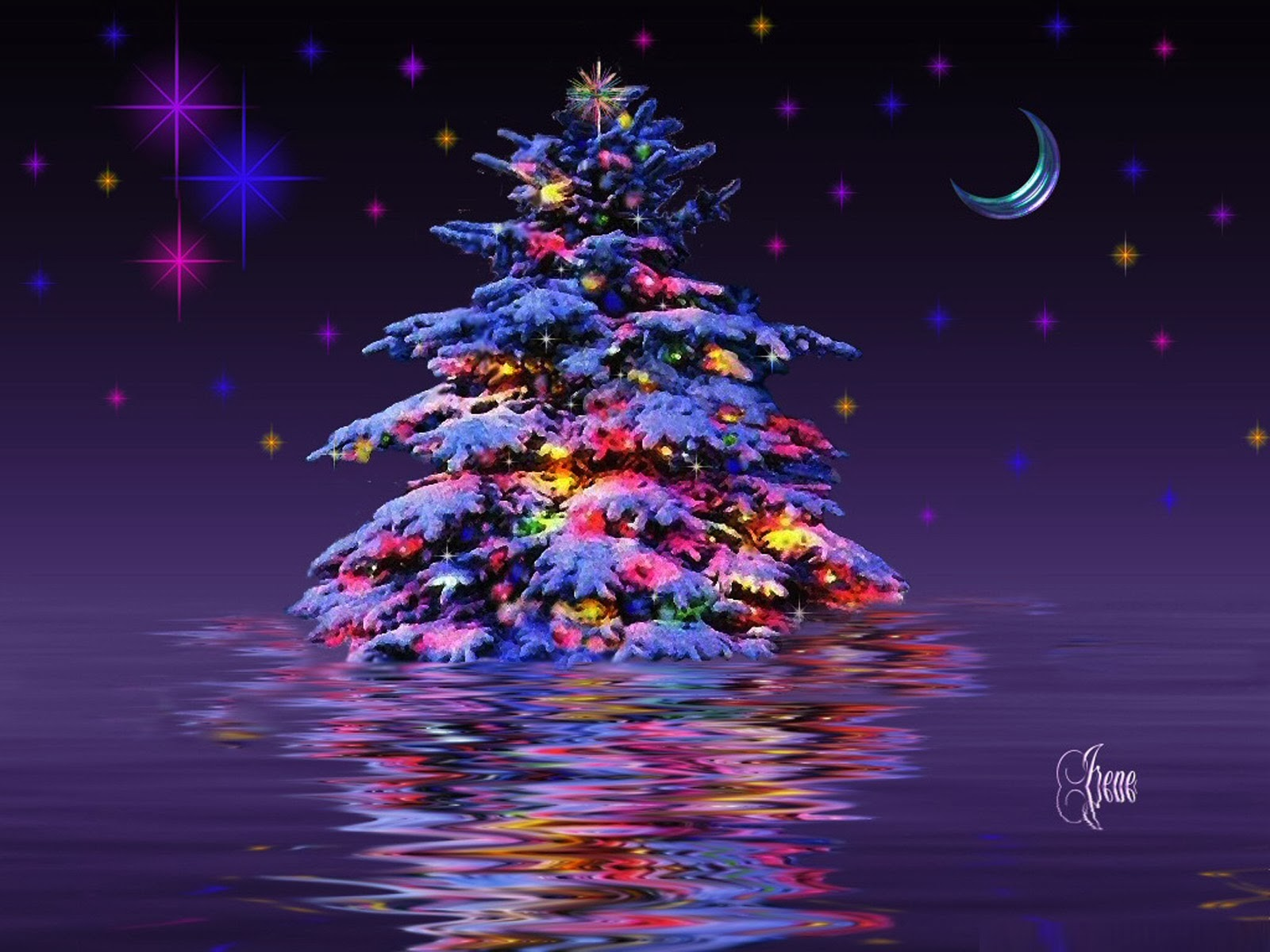 3d Christmas Tree For Desktop HD Wallpaper Free