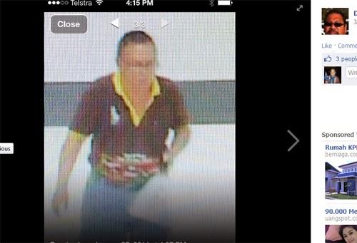 Rekaman CCTV si pelaku yang diduga pencuri