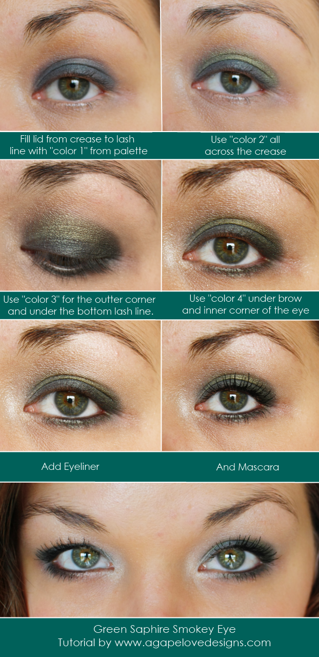 how to create smokey eyes for green eyes