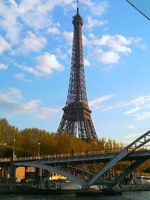 Eiffel Tower viewed from the river Seine
