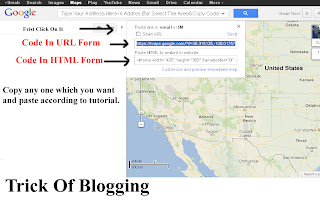 Add | Put | Embed Google Map Between Blog Post Blogger Tricks 2