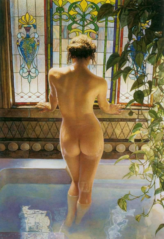Художники рисуют голых девушек 31 фотография