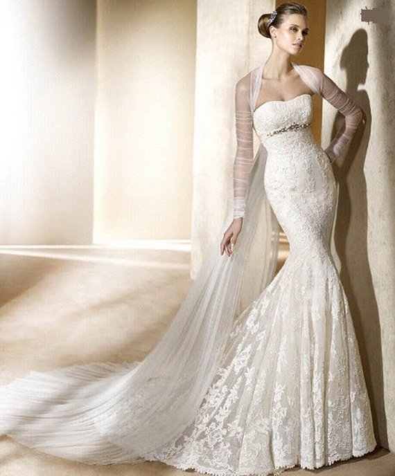 2012 mermaid wedding dresses