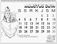 kalender anak indonesia 2014 bulan agustus