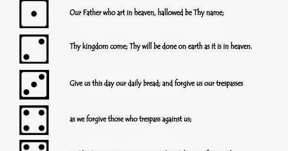 The Catholic Toolbox: Our Father Roll a Prayer Worksheet