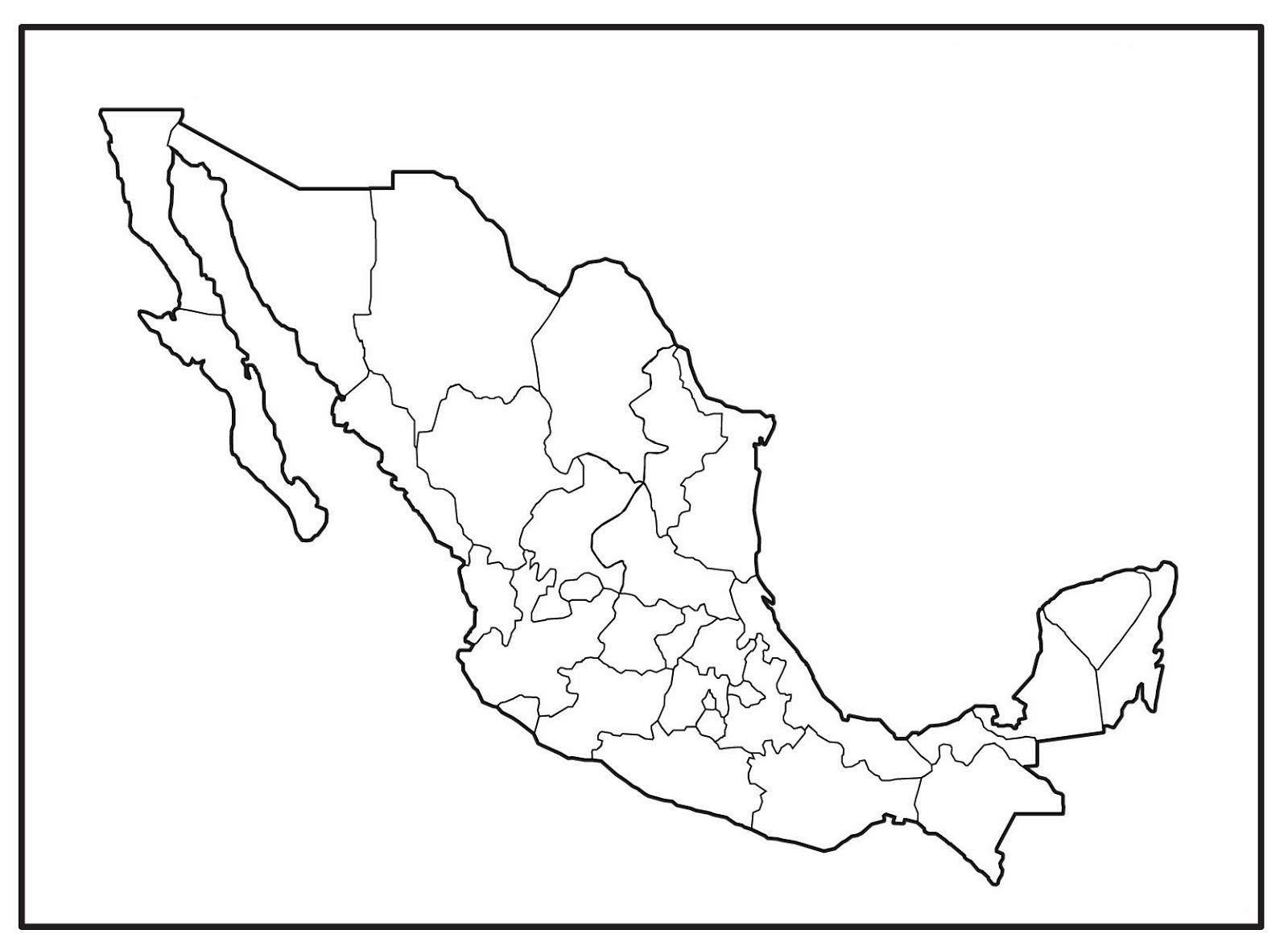 Free coloring pages of mapa republica mexicana - Significado de los colores de las rosas ...