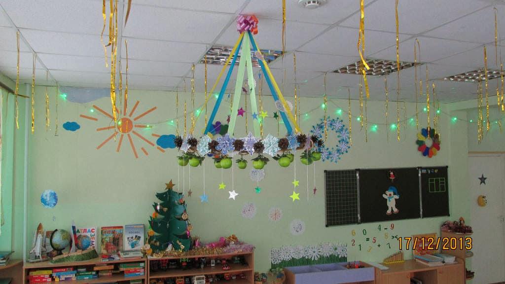 Идеи для украшения школы к новому году своими руками
