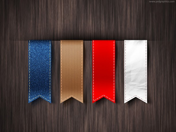 Vertical Ribbons Template PSD