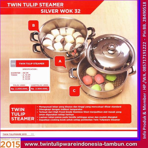 Twin Tulip Steamer, Panci Tulipware 2015