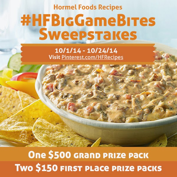 Hormel Foods Sweepstakes, Big Games Bites Sweepstakes
