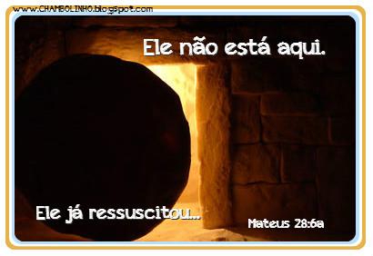 Recadinho Páscoa Ressurreição de Cristo
