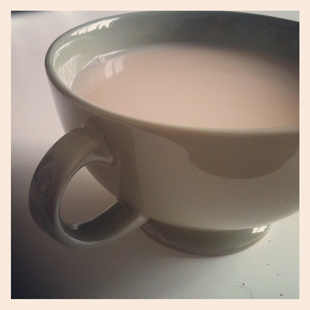 very large cup of tea