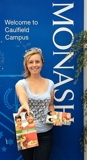 Chelsea Collins at Monash Caulfield campus