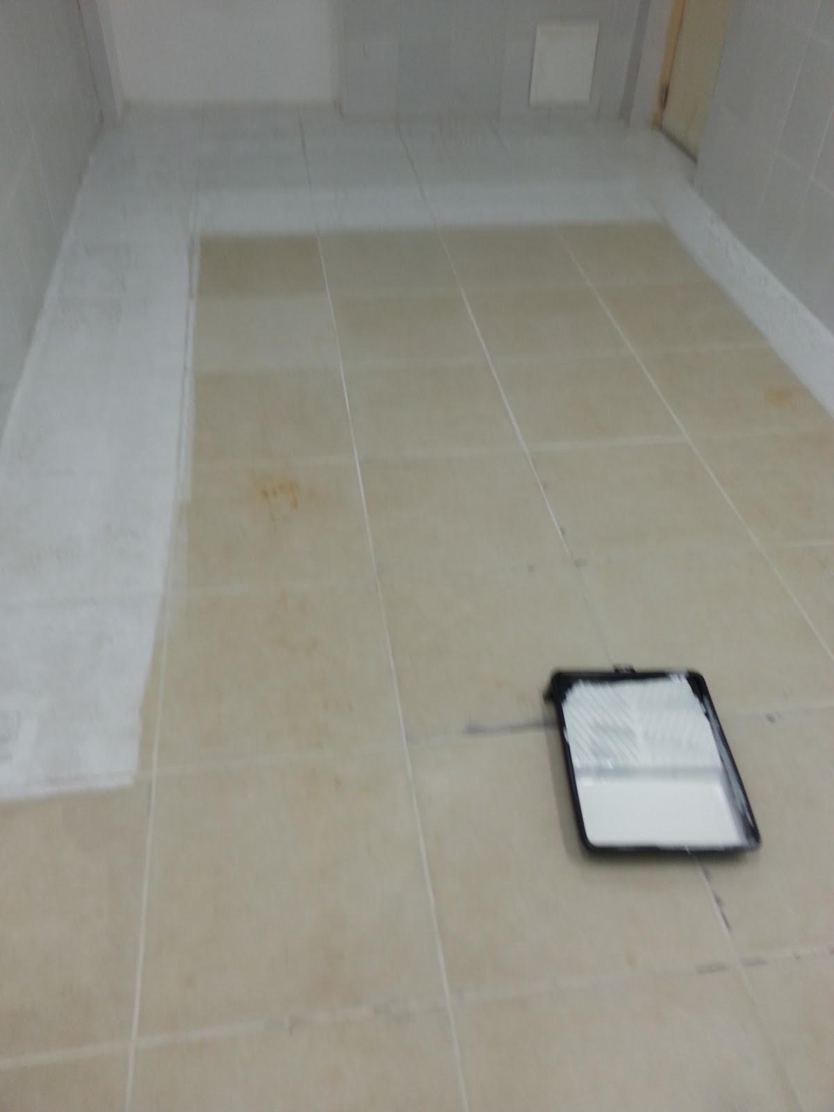 Pintura piso porcelanato cozinha tinta especial poliuretano anti derrapante 05 cinco anos de - Pintura para mosaicos piso ...