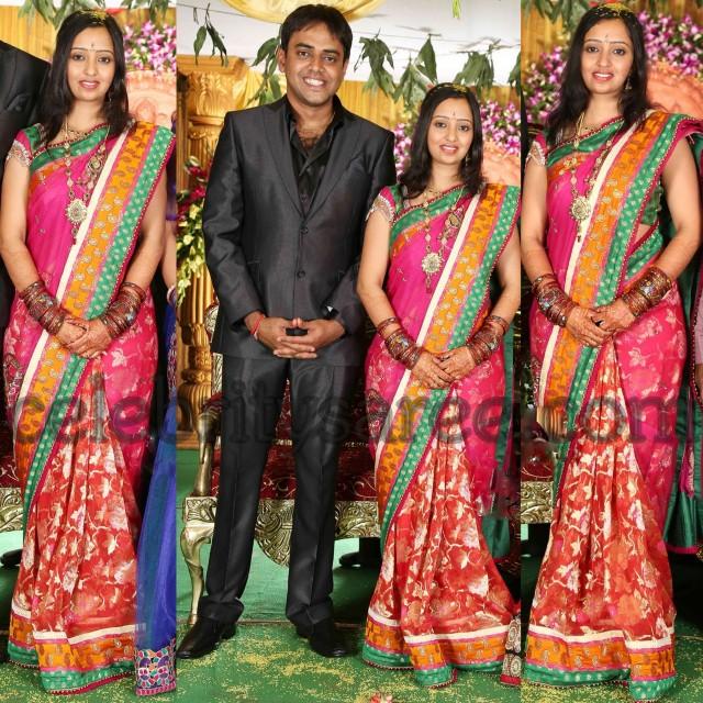 Singer Malavika Reception Saree