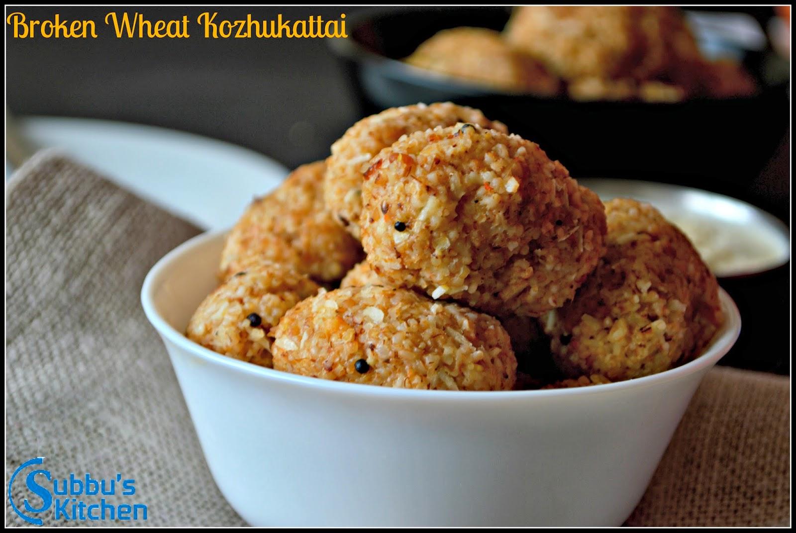 Broken Wheat Upma Kozhukattai | Samba Godhumai Rava Upma Kozhukattai