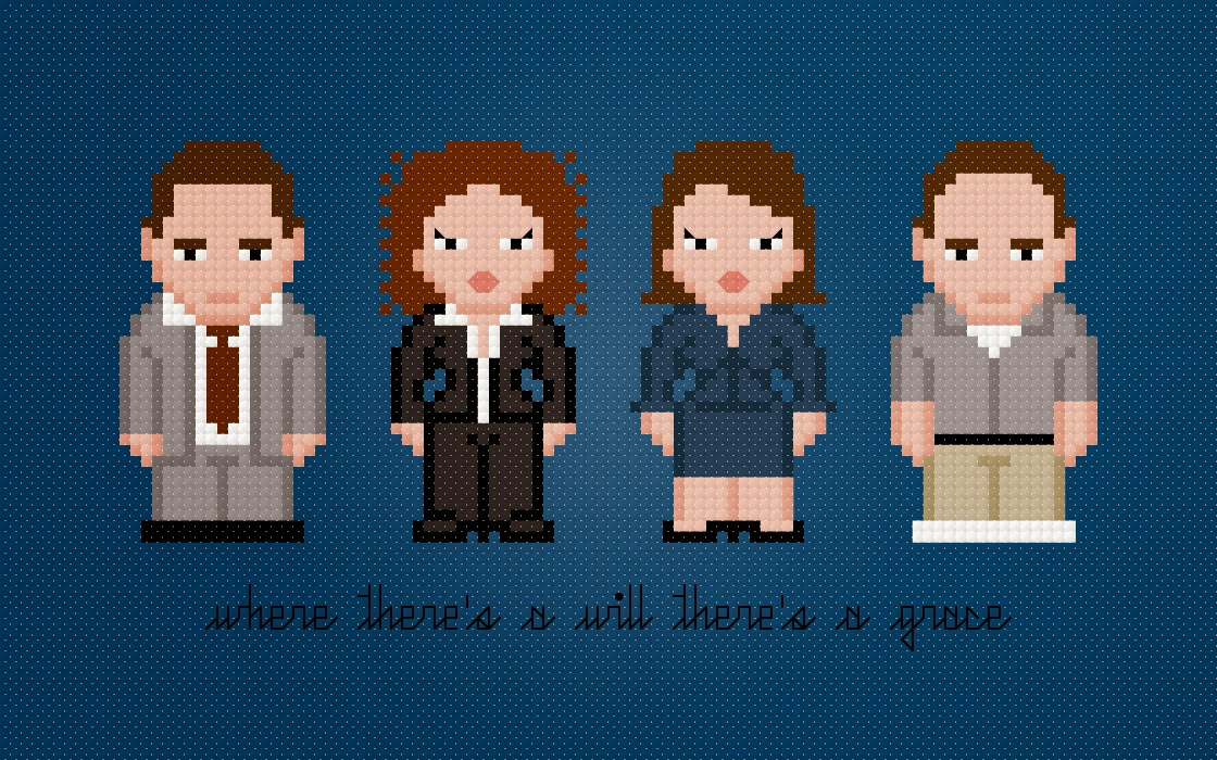 Will & Grace - Cross Stitch PDF Pattern Download