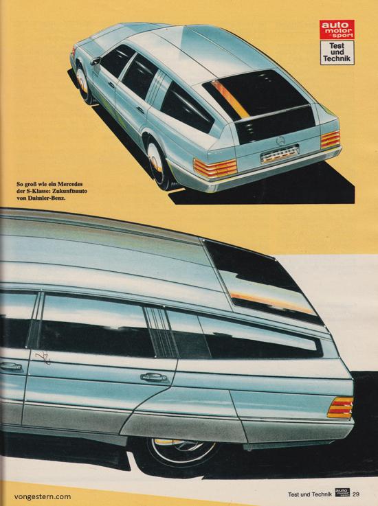 Vongestern blog der mercedes der zukunft 1979