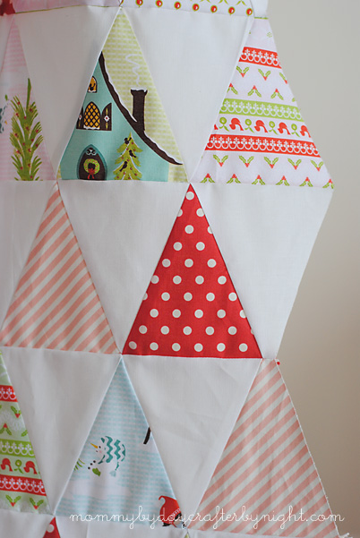 how to make an isosceles triangle quilt