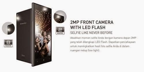 Androidmax V3S Android Selfie dengan Flash Kamera Depan