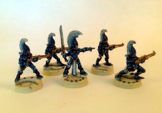 40k eldar dire avengers - group front