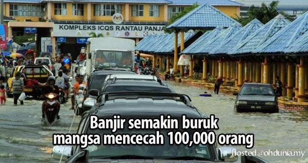 Keadaan banjir semakin buruk, mangsa cecah lebih 100,000 orang