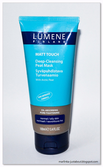 Lumene matt touch глубоко очищающая маска на