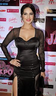 Sunny Leone Jackpot Opening Ceremony with Black Dress