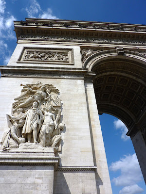 Arc De Triomphe, Paris, France www.thebrighterwriter.blogspot.com