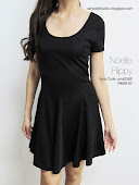 Short sleeve flare dress