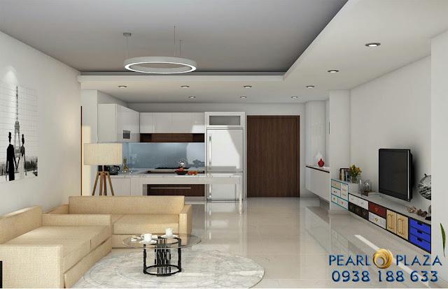 Căn hộ 2PN tại Pearl Plaza cho thuê (bao phí quản lý)