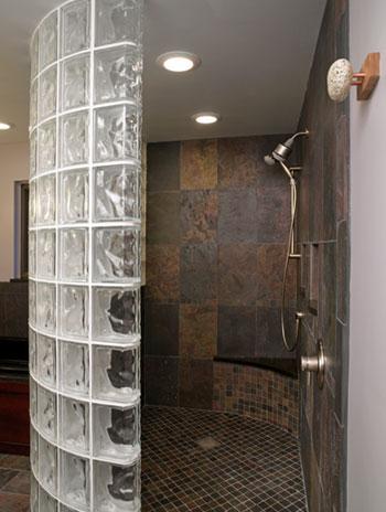 Arredamenti moderni idee bagno doccia in muratura for Come costruire una cabina di pietra
