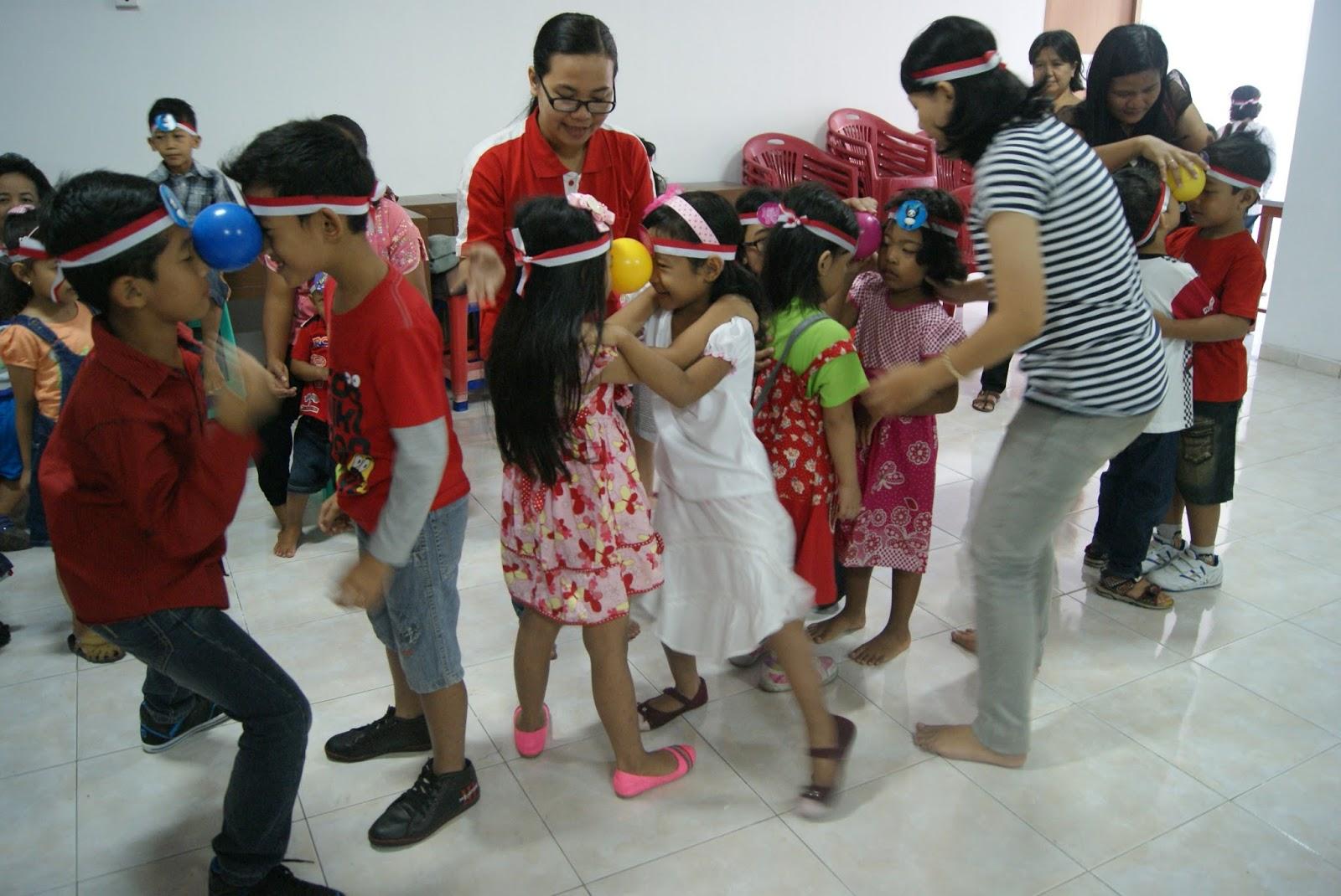 Sekolah Minggu tema Kemerdekaan Republik Indonesia PIA Kumetiran 18