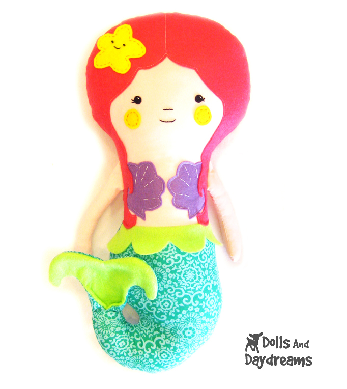 Mermaid Softie Doll PDF Sewing Pattern Finished!
