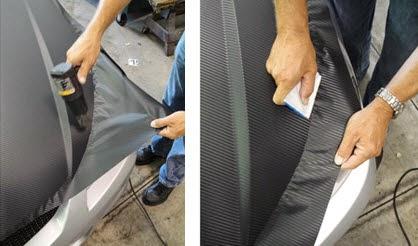 Pemasangan Stiker Carbon 3D