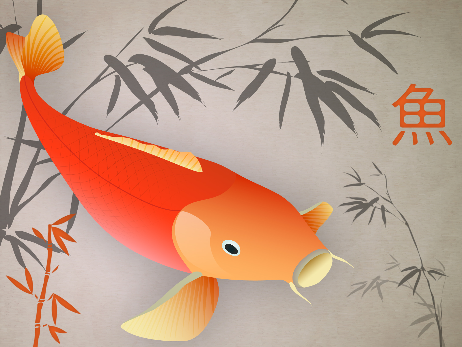 Wallpaper japanese carp wallpaper for Koi japanese art
