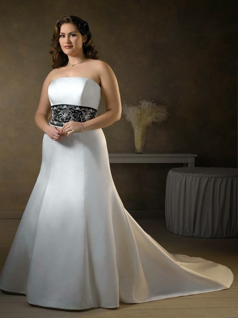 Used wedding gown get high quality plus size dress with for Best wedding dress styles for plus size brides