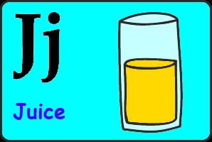 Карточка английской буквы J
